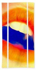 Kiss Me-triptych Hand Towel