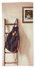 Kitchen Apron Hanging On Ladder Hand Towel