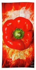 Kitchen Red Pepper Art Hand Towel