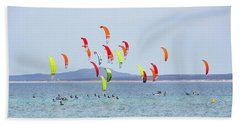 Kite Boarding At La Ventana Bath Towel