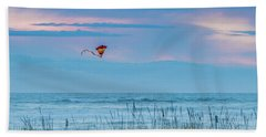 Kite In The Air At Sunset Hand Towel