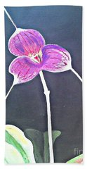 Kite Orchid Hand Towel by Francine Heykoop