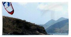 Kite Surfer St Kitts Hand Towel
