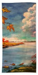 Kites, Clouds And Sailboats Hand Towel