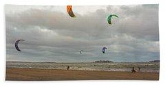 Kitesurfing On Revere Beach Hand Towel
