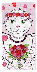 Kitty Bride Hand Towel