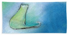 Kitty Reflects Hand Towel by Valerie Reeves