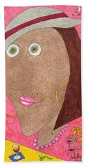 Kiwi Eyes Hand Towel