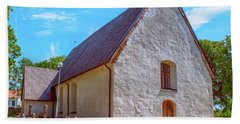 Bath Towel featuring the photograph Kjaerrbo Church  by Leif Sohlman