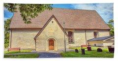 Bath Towel featuring the photograph Kjaerrbo Church South.  by Leif Sohlman