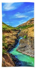 Klickitat River Canyon Bath Towel