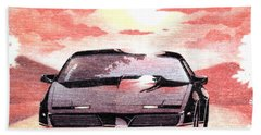 Hand Towel featuring the digital art Knight Rider by Gina Dsgn