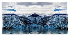 Knik Glacier Reflection Bath Towel