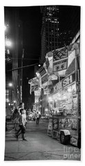 Bath Towel featuring the photograph Knish, New York City  -17831-17832-bw by John Bald