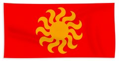 Knitted Sun Hand Towel by Anton Kalinichev