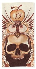 Knowledge Hand Towel by Deadcharming Art