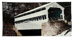 Knox Covered Bridge Historical Place Bath Towel by Sally Weigand