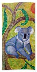Koala Sunrise Hand Towel by Sarah Loft