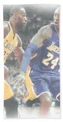 Kobe Bryant Lebron James 2 Hand Towel