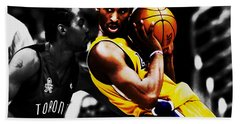 Kobe Bryant School Time Hand Towel by Brian Reaves