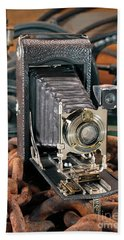 Hand Towel featuring the photograph Kodak No. 3a Autographic Camera by Martin Konopacki
