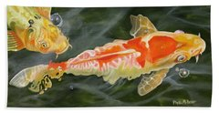 Koi 2 Hand Towel by Phyllis Beiser
