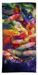 Koi Pond Hand Towel by Jon Woodhams