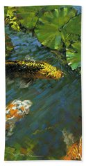 Koi Pond Hand Towel