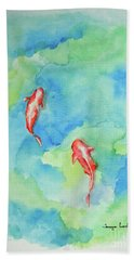 Koi Summer Hand Towel