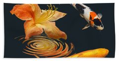 Koi With Azalea Ripples Hand Towel