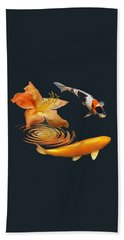 Koi With Azalea Ripples Bath Towel