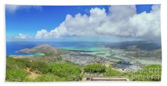 Kokohead Oahu, Hawaii Bath Towel