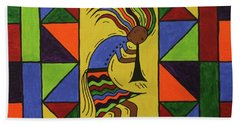 Kokopelli Dance Hand Towel by Susie WEBER