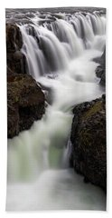Kolugljufur Waterfalls Hand Towel