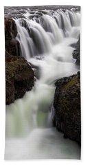 Kolugljufur Waterfalls Bath Towel