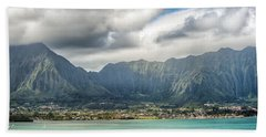 Ko'olau And H-3 In Color Hand Towel
