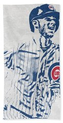 kris bryant CHICAGO CUBS PIXEL ART 2 Bath Towel