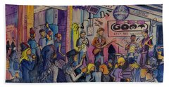 Kris Lager Band At The Goat Bath Towel by David Sockrider