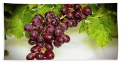 Krissy Gold Grapes Hand Towel by David French