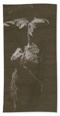 Kroki 1997, Pre.3 Vit Krita, Figure Drawing White Chalk Bath Towel