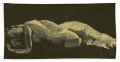 Kroki 2014 09 27_3figure Drawing White Chalk  Bath Towel