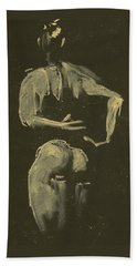 kroki 2014 09 27_4 figure drawing white chalk Marica Ohlsson Hand Towel