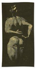 kroki 2014 09 27_4 figure drawing white chalk Marica Ohlsson Bath Towel