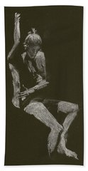 Kroki 2014 10 04_12 Figure Drawing White Chalk Hand Towel