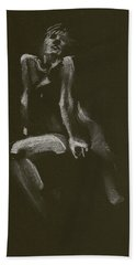 Kroki 2014 10 18_3 Figure Drawing White Chalk Hand Towel