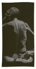 Kroki 2015 01 10_14 Figure Drawing White Chalk Hand Towel