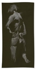Kroki 2015 01 10_7 Figure Drawing White Chalk Hand Towel