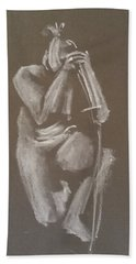 Kroki 2015 06 18_4 Figure Drawing Chinese Sword White Chalk Hand Towel