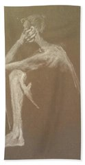 Kroki 2015 06 18_9 Figure Drawing White Chalk Hand Towel