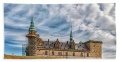 Bath Towel featuring the photograph Kronborg Castle In Denmark by Antony McAulay